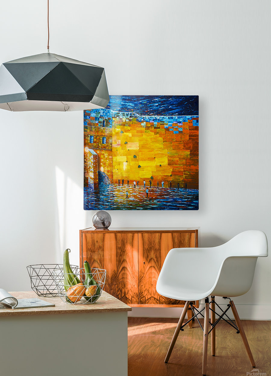 Jerusalem Wailing Wall Original Acrylic Palette Knife Painting Georgeta Blanaru Canvas Artwork