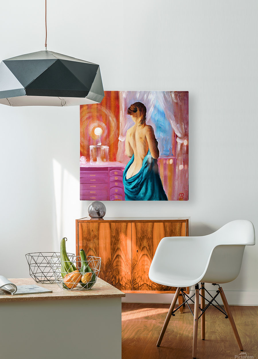 Magic light   HD Metal print with Floating Frame on Back