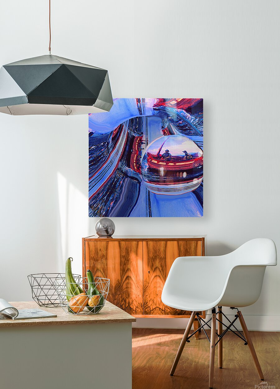 Romantic River Escape   HD Metal print with Floating Frame on Back