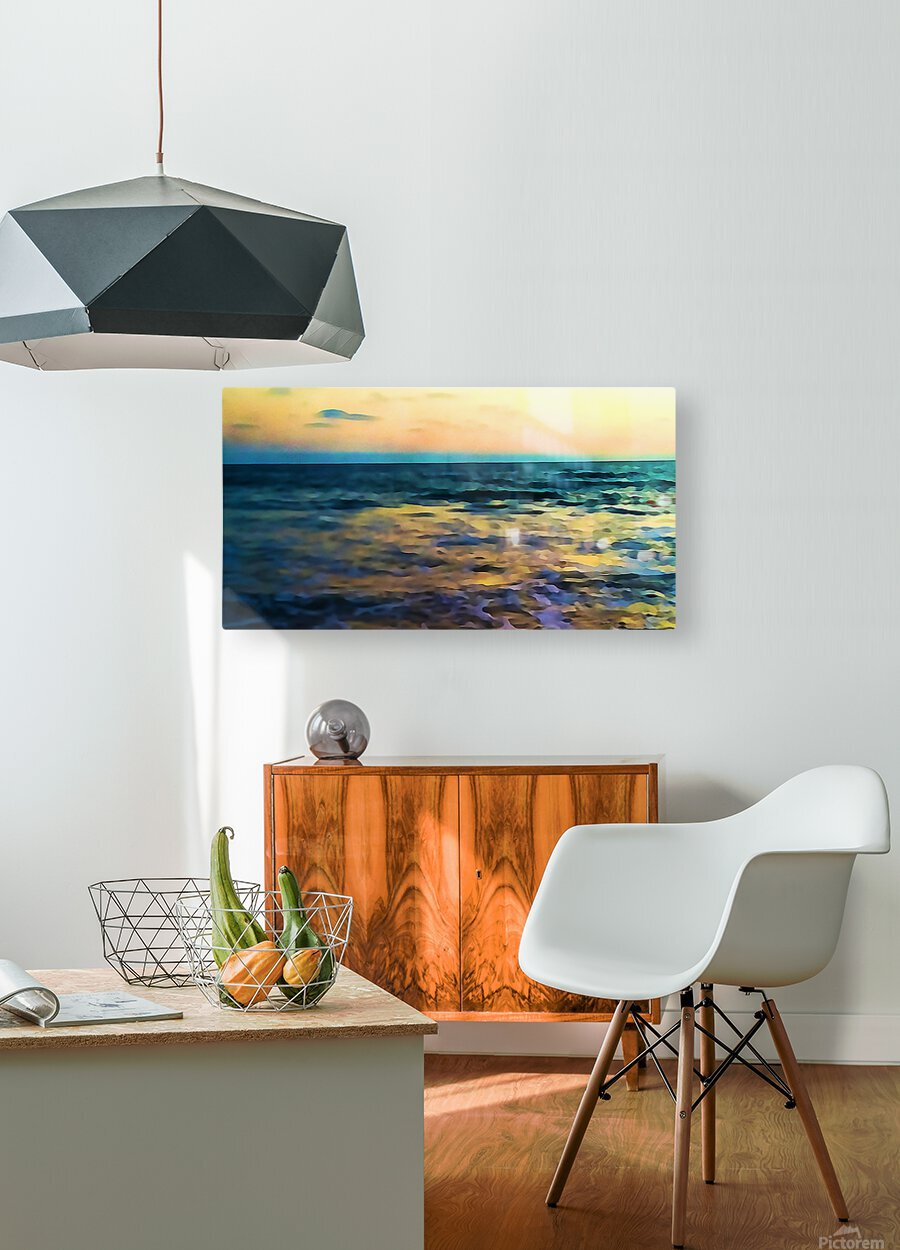 Manhattan Beach Beauty  HD Metal print with Floating Frame on Back
