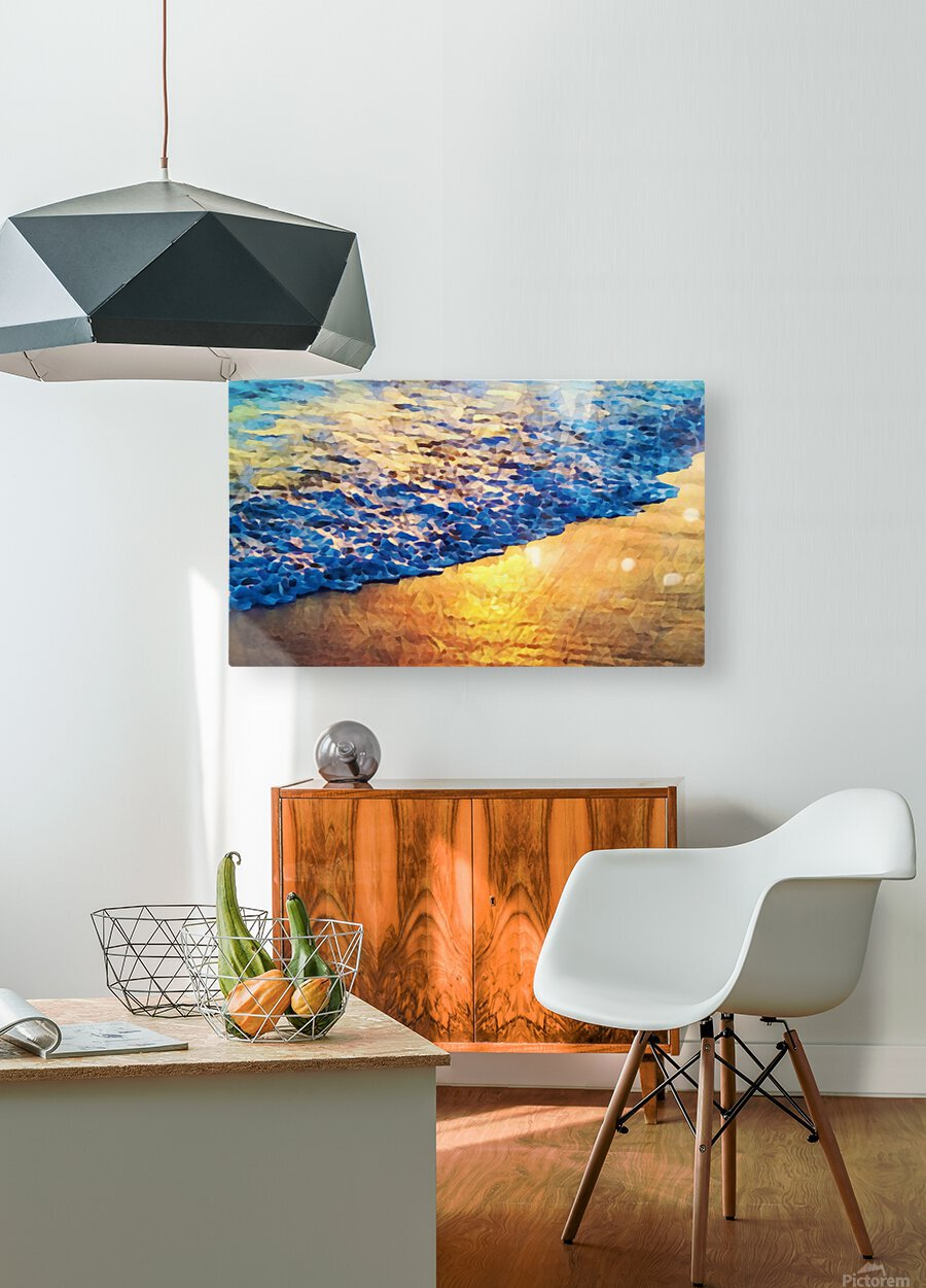 Manhattan Beach Water  HD Metal print with Floating Frame on Back