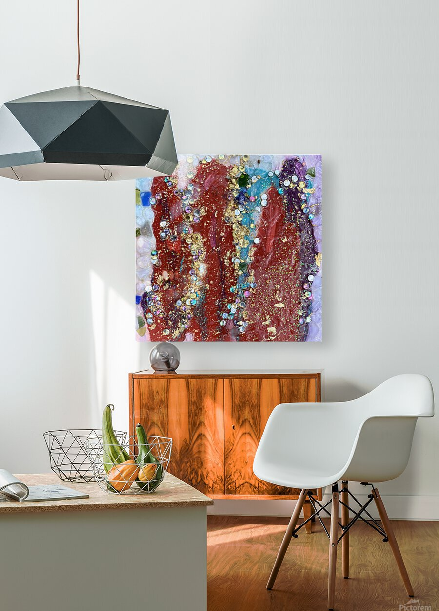 Rained Confetti   HD Metal print with Floating Frame on Back