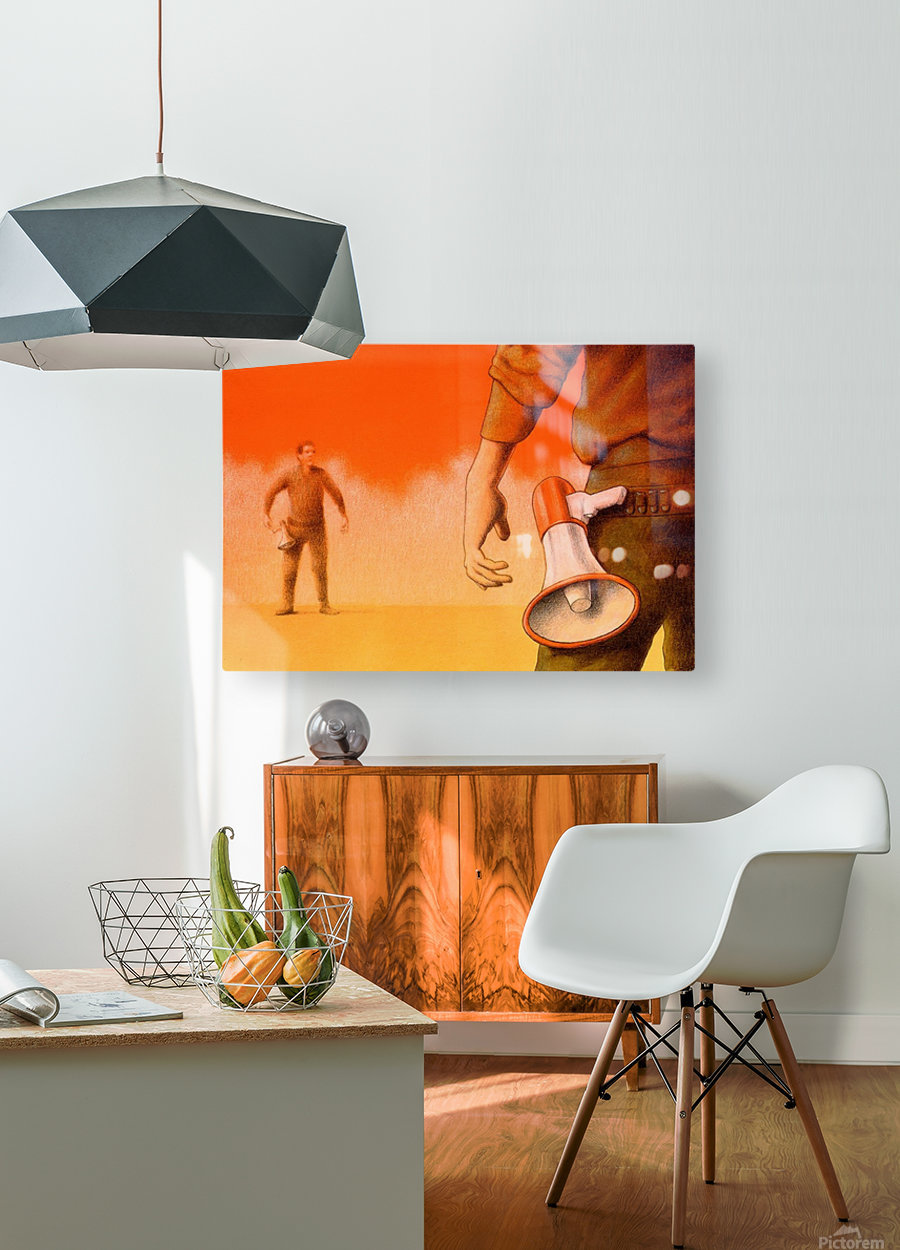 Duel  HD Metal print with Floating Frame on Back
