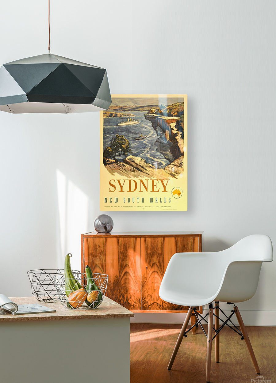 Sydney New South Wales  HD Metal print with Floating Frame on Back
