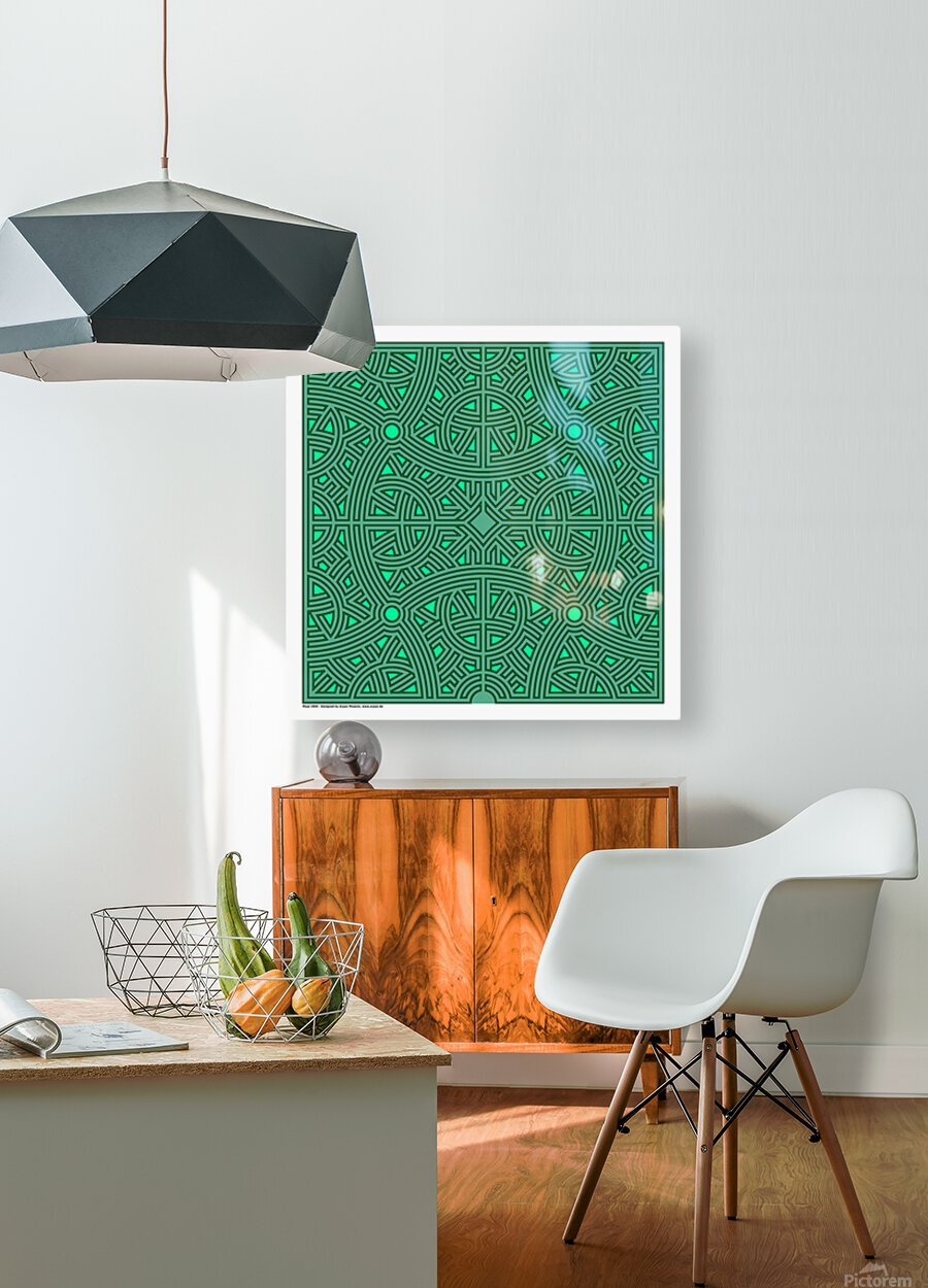 Maze 2800  HD Metal print with Floating Frame on Back