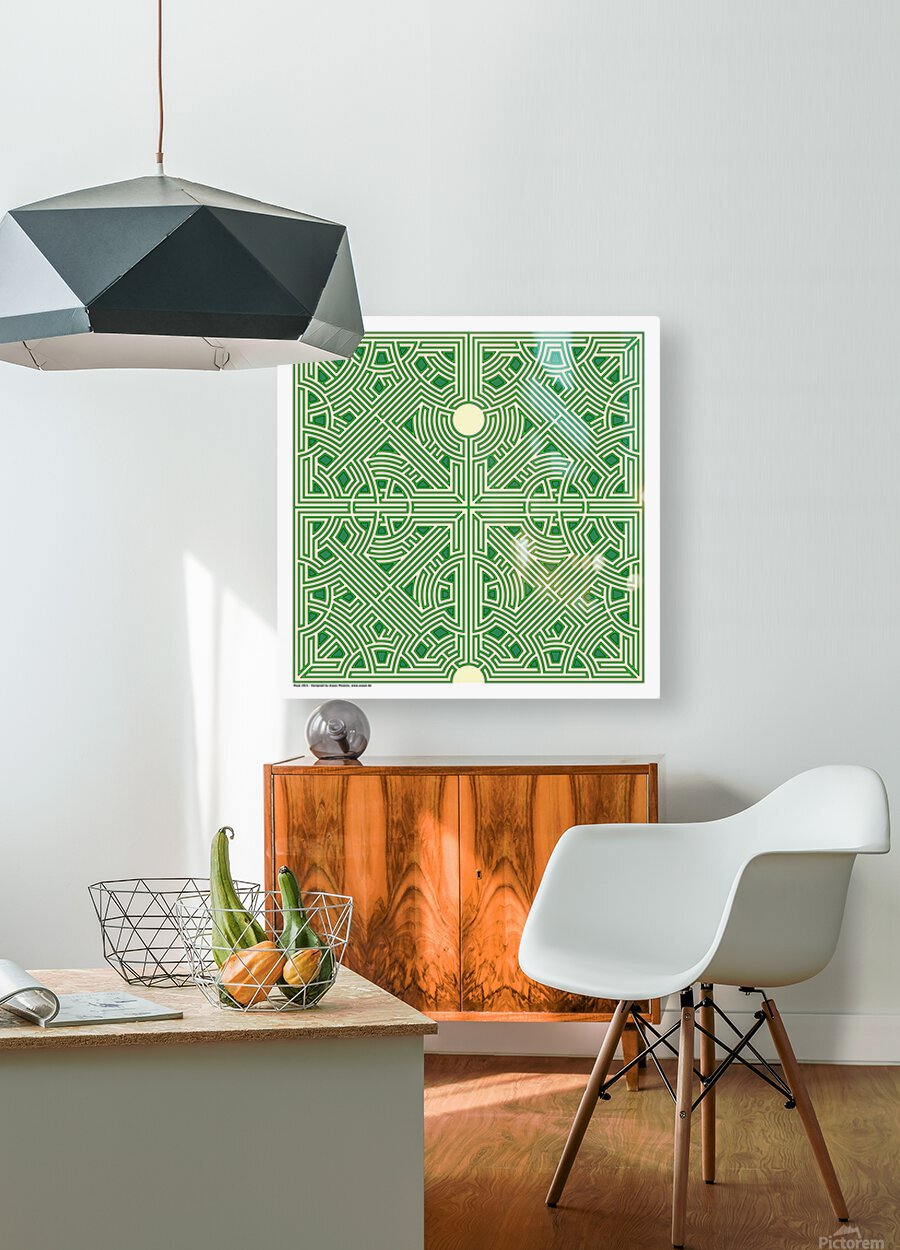 Maze 2821  HD Metal print with Floating Frame on Back