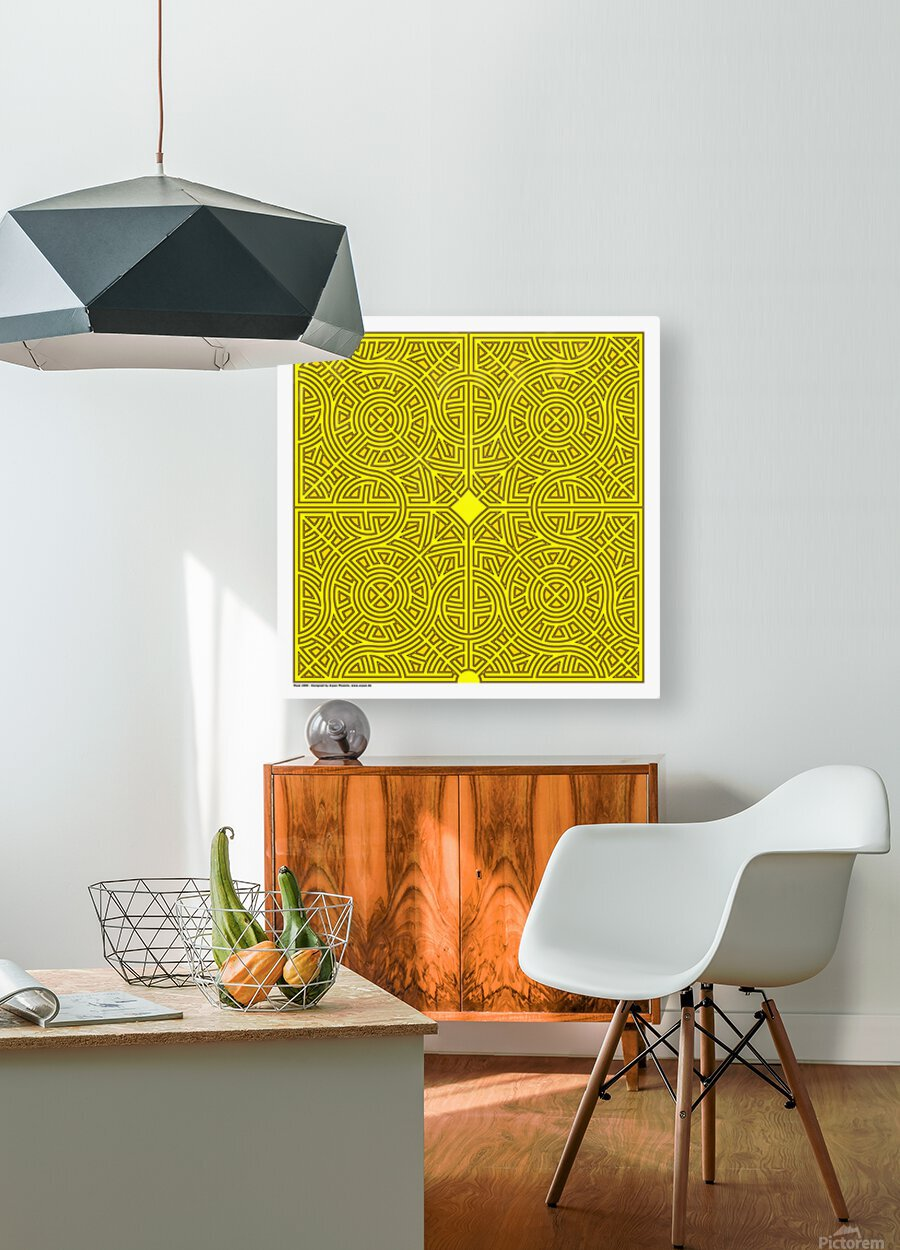 Maze 2880  HD Metal print with Floating Frame on Back