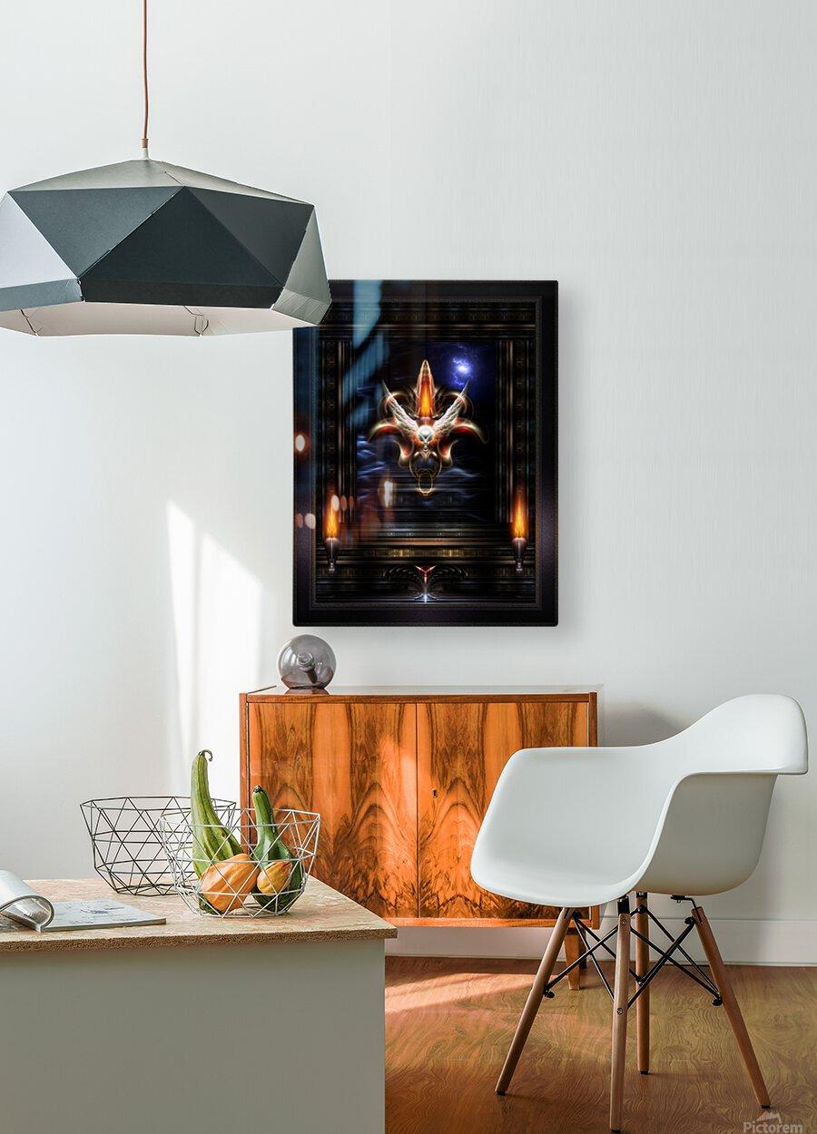 Akrellian Torch Fire Portrait Fractal Art Composition by Xzendor7  HD Metal print with Floating Frame on Back