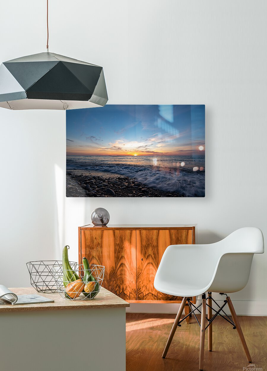 Washed by a Sunset  HD Metal print with Floating Frame on Back