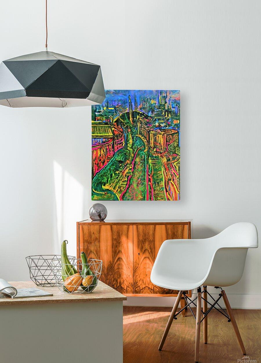 Vegetarian City Art Print  HD Metal print with Floating Frame on Back