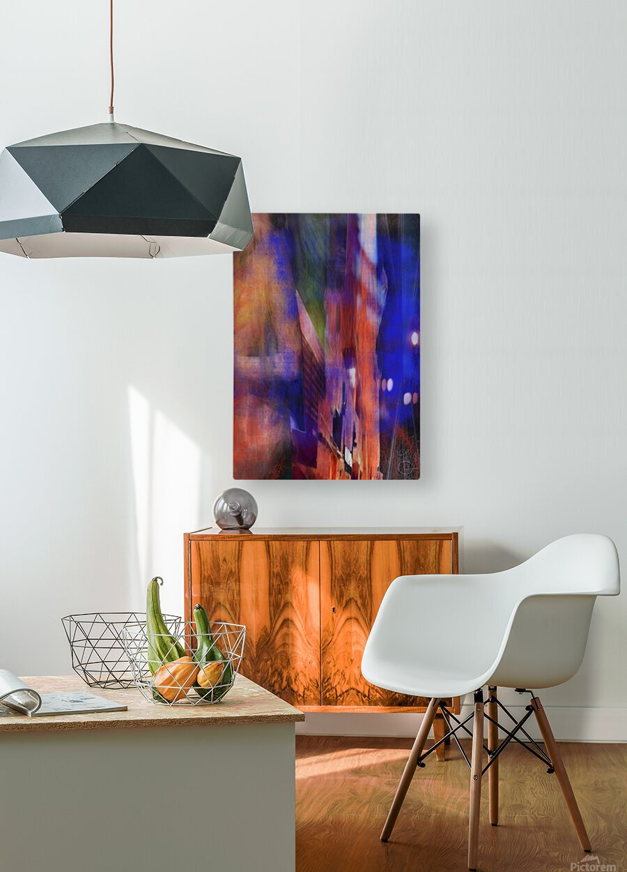 Introduction of a Model  HD Metal print with Floating Frame on Back