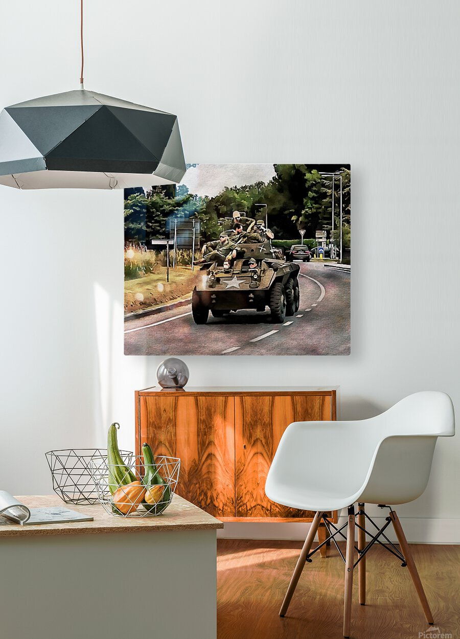 Six Wheeled Armoured Vehicle  HD Metal print with Floating Frame on Back