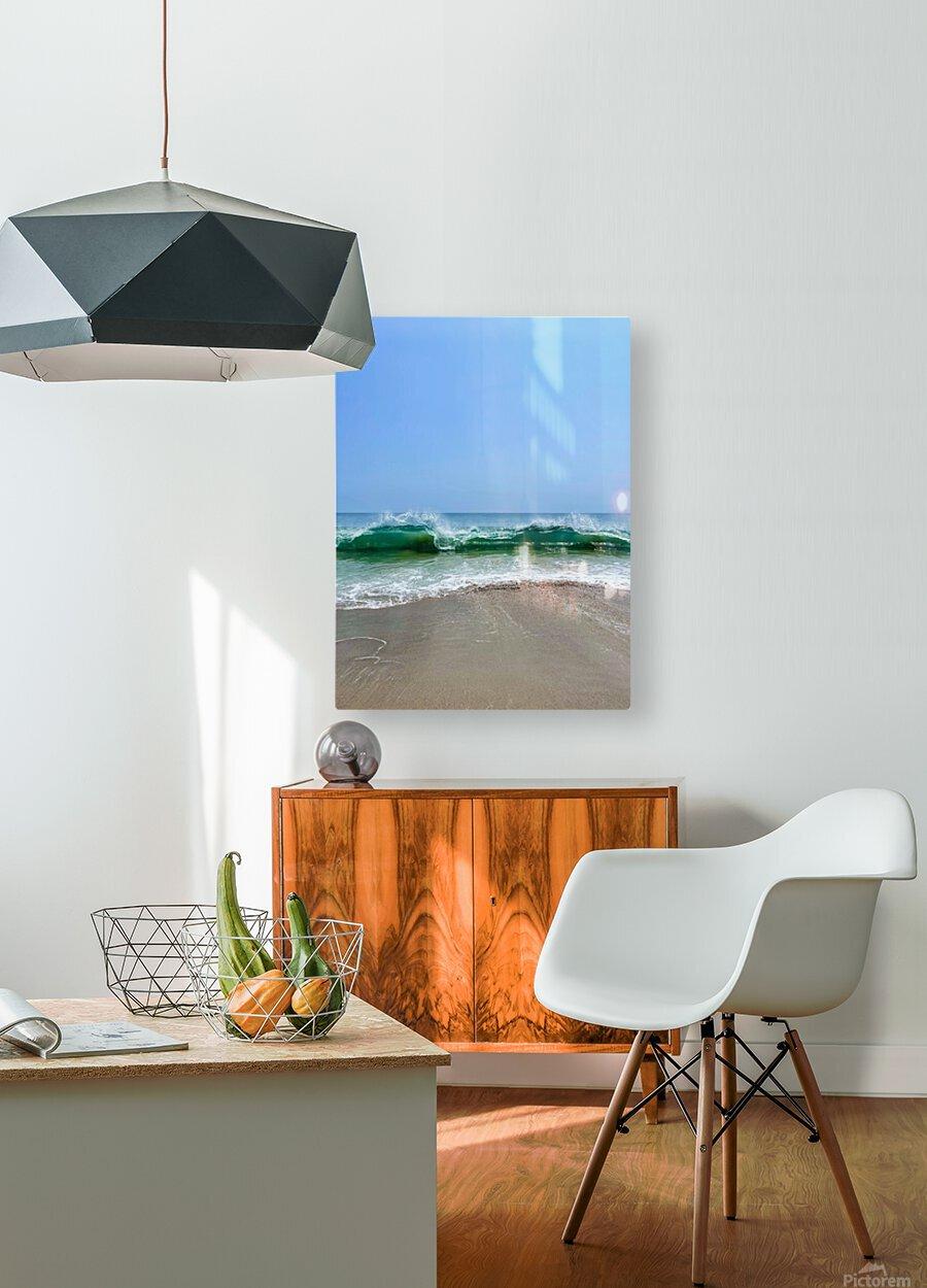 Crashing Waves - Malibu CA  HD Metal print with Floating Frame on Back