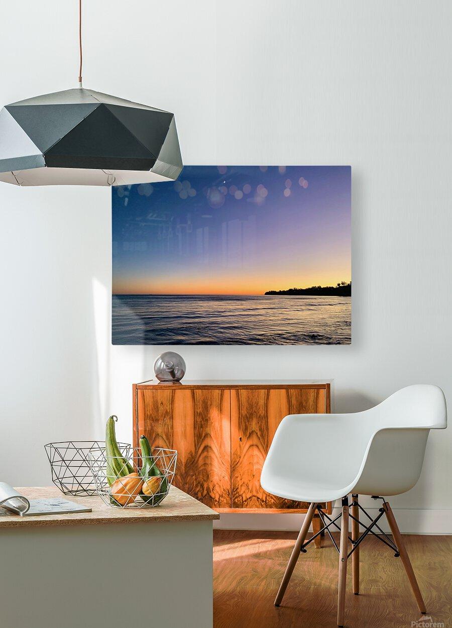 Sunset Moon - Malibu CA  HD Metal print with Floating Frame on Back