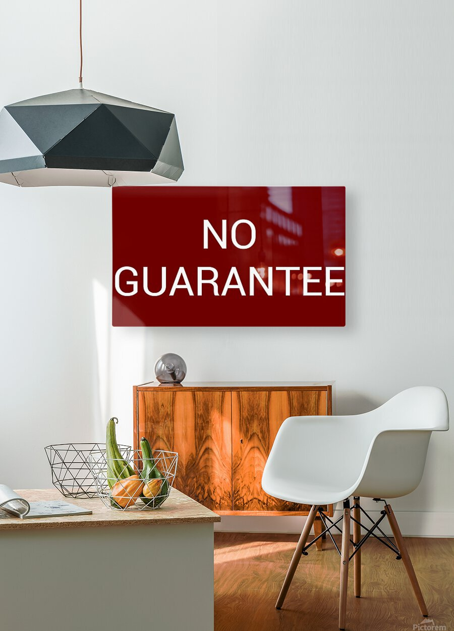 NO GUARANTEE blood red by Lenie Blue  HD Metal print with Floating Frame on Back