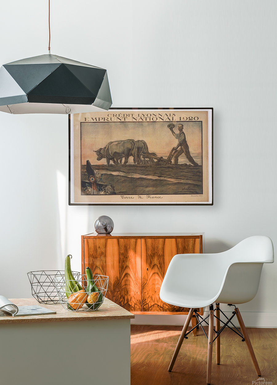 Vintage---Credit-Lyonnais  HD Metal print with Floating Frame on Back