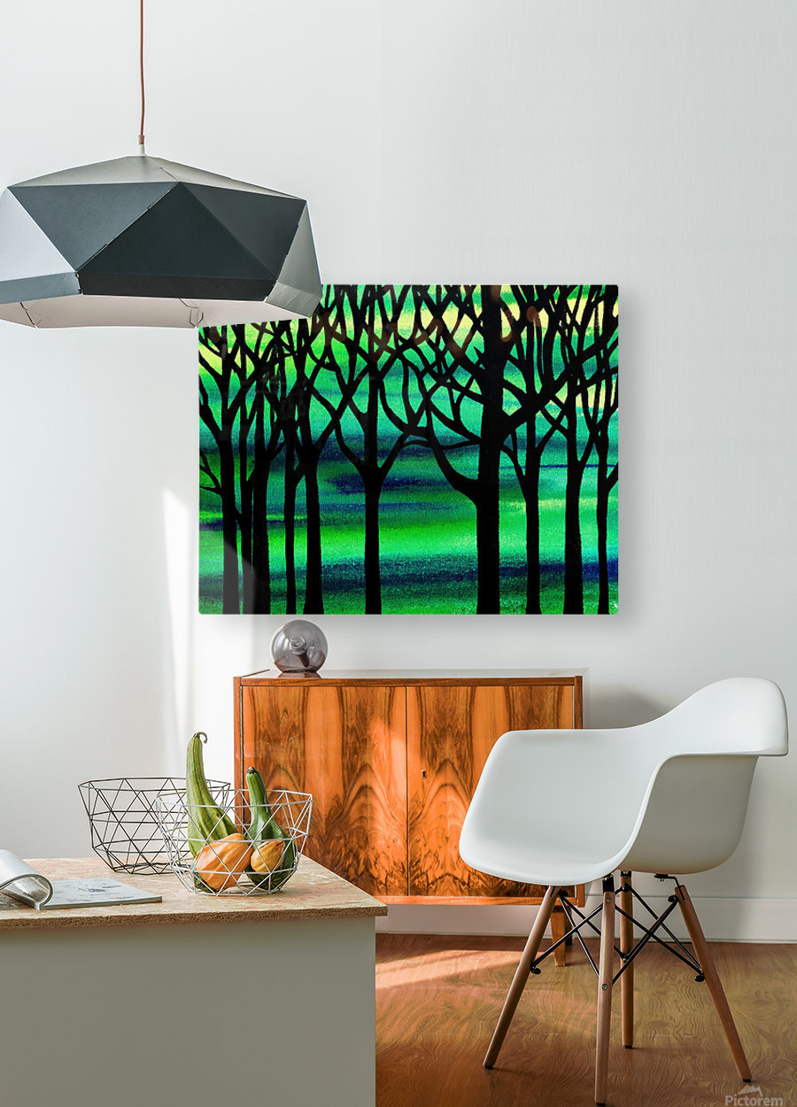 Abstract Spring Forest  HD Metal print with Floating Frame on Back