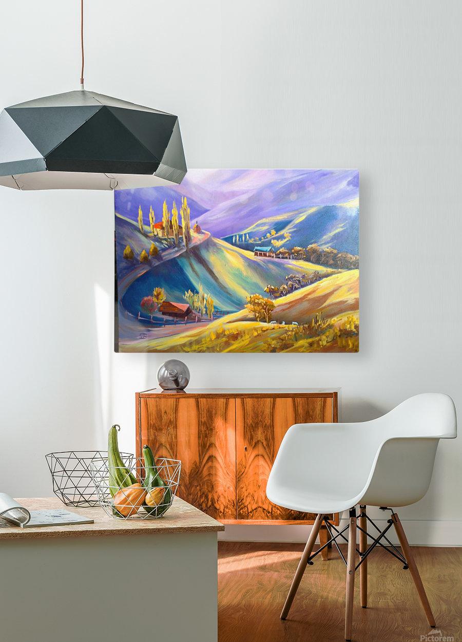 Moeciu landscape   HD Metal print with Floating Frame on Back