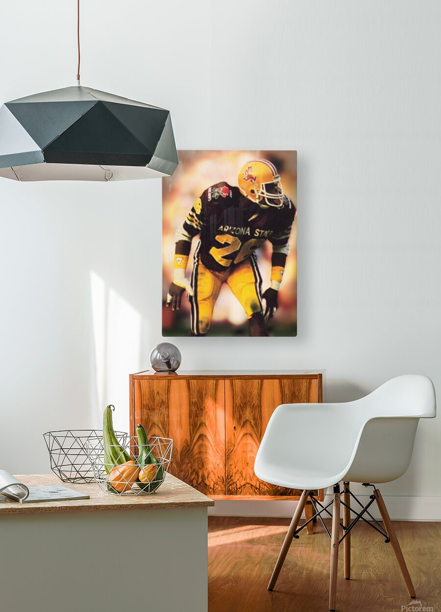 1988 Arizona State Football Art  HD Metal print with Floating Frame on Back