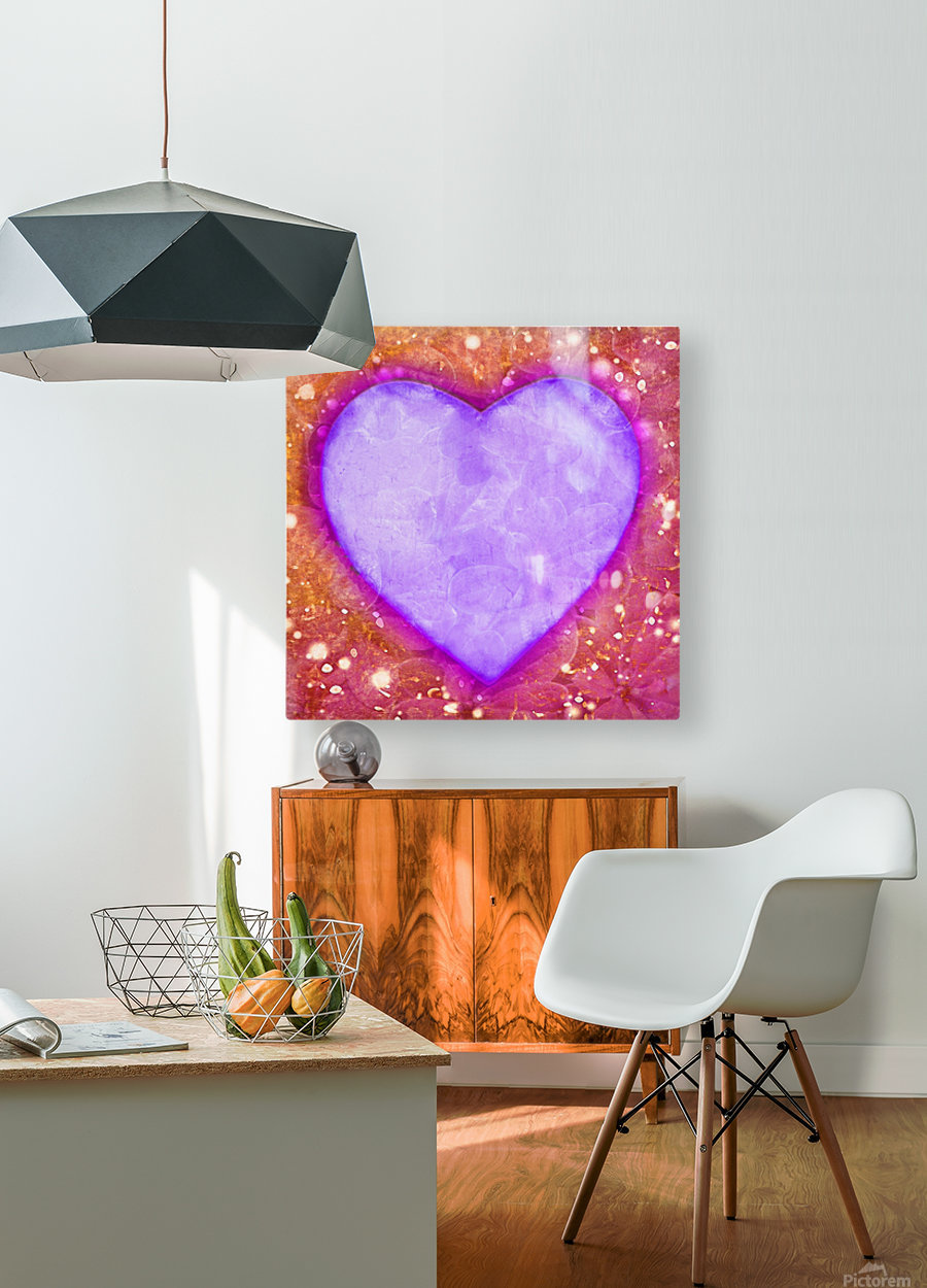 Vibrant Love Digital Art Collage  HD Metal print with Floating Frame on Back