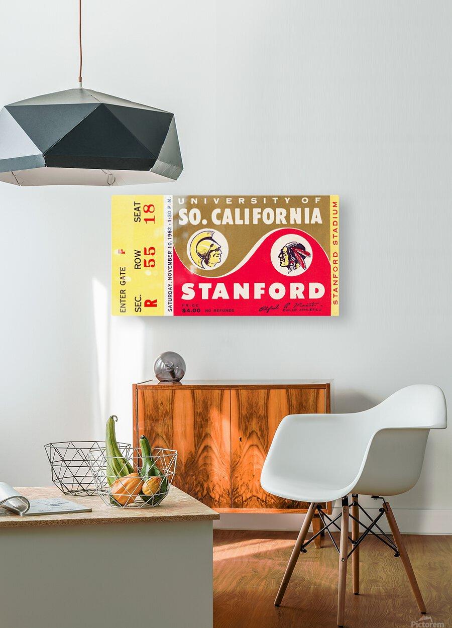 1962 Stanford Indians vs. USC Trojans  HD Metal print with Floating Frame on Back