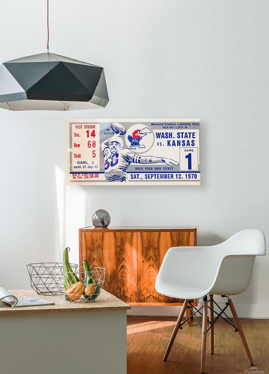 1970 Kansas Jayhawks vs. Washington State Cougars  HD Metal print with Floating Frame on Back