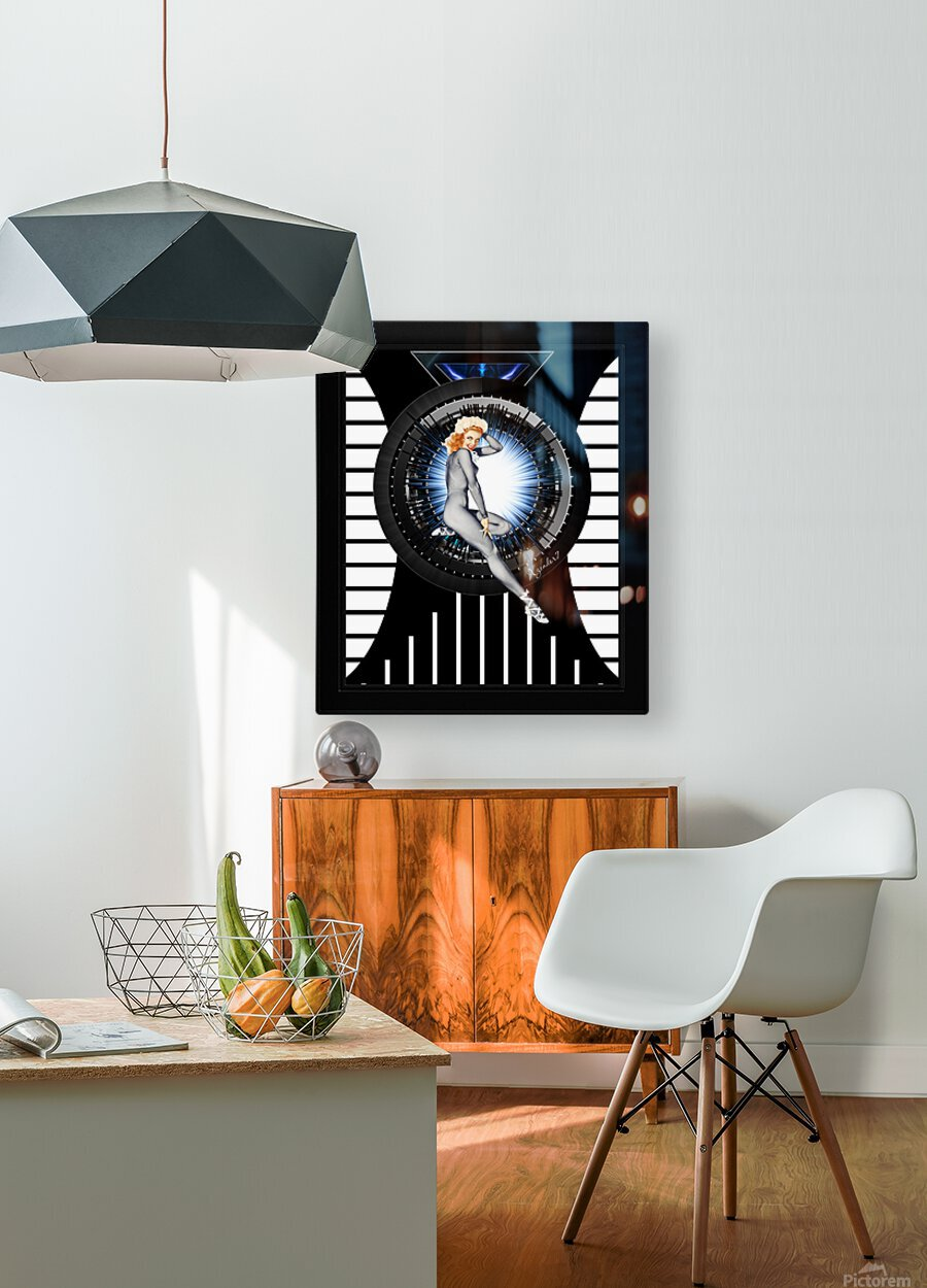 Sitting Pretty With Tech by Xzendor7 Digital Art  HD Metal print with Floating Frame on Back