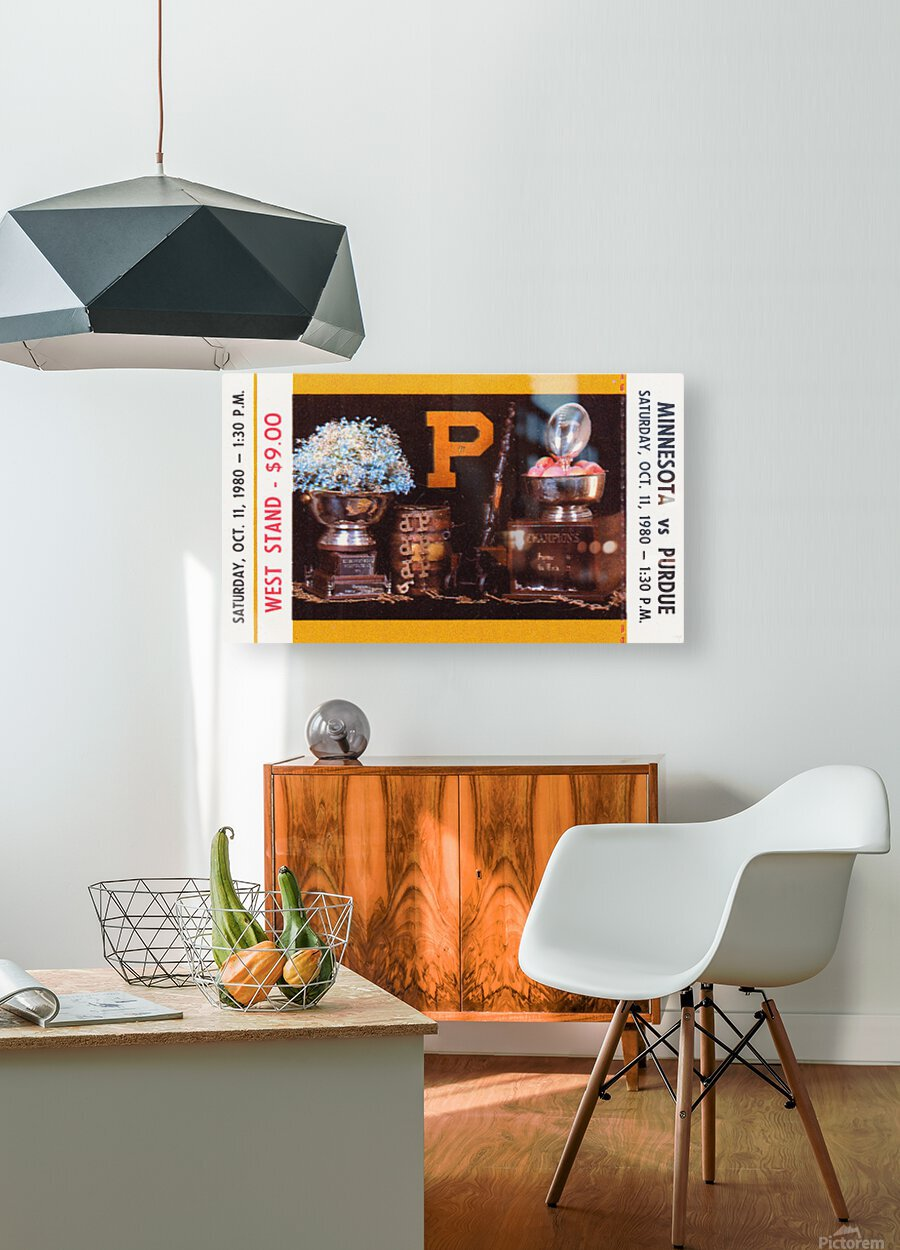 1980 Purdue Boilermakers vs. Minnesota Golden Gophers  HD Metal print with Floating Frame on Back