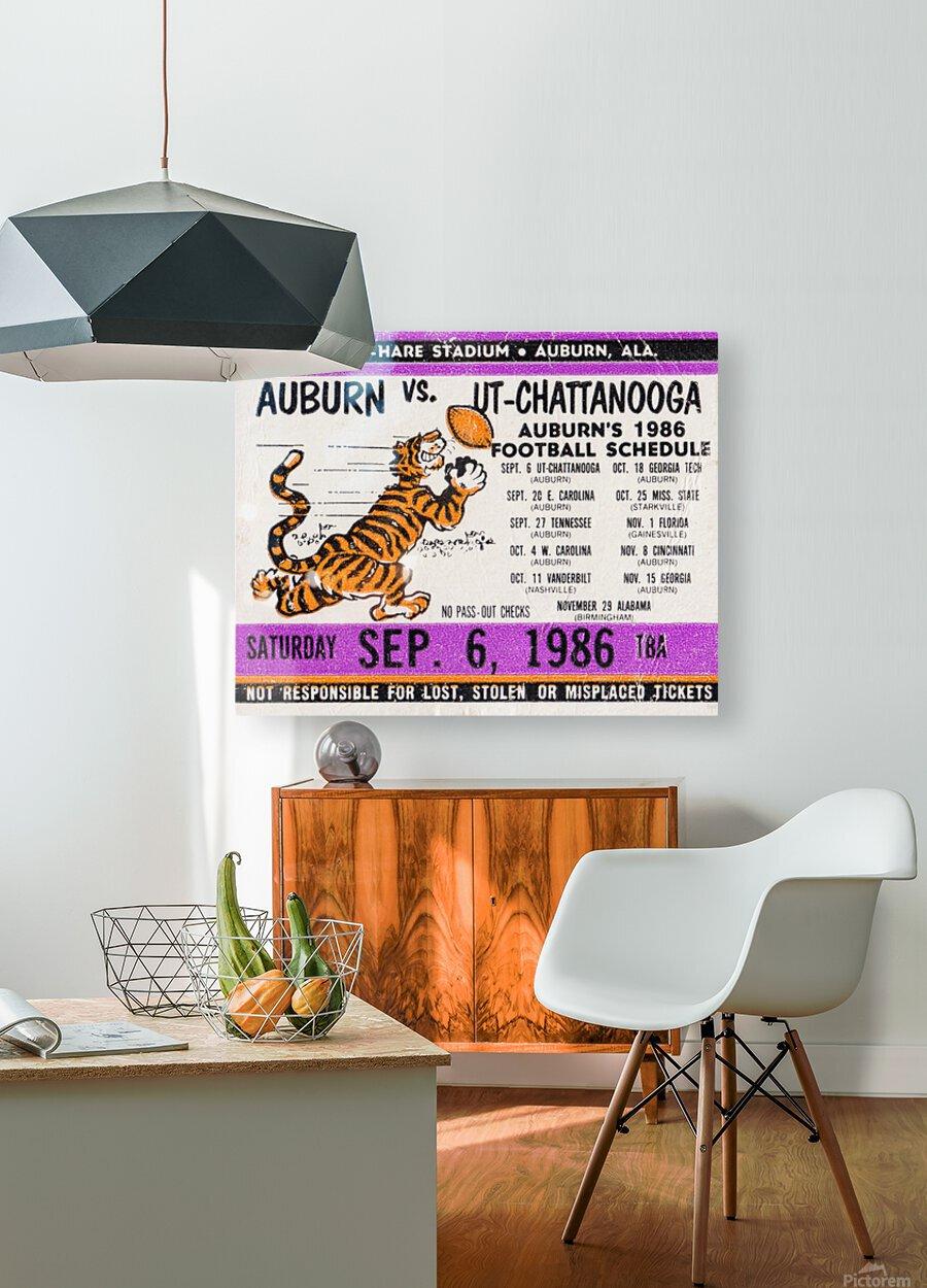 1986 Auburn Tigers vs. Chattanooga Mocs   HD Metal print with Floating Frame on Back