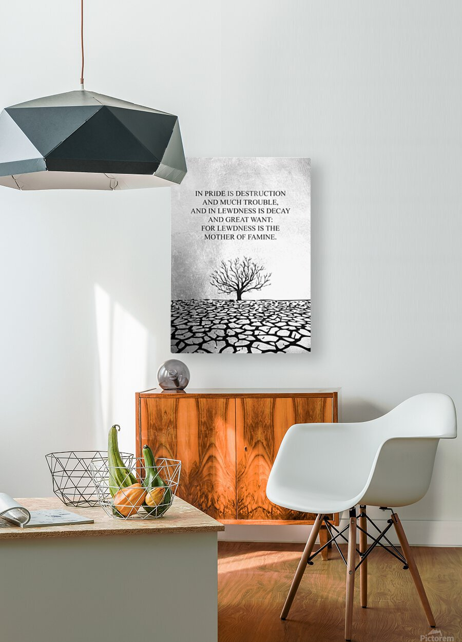 Tobit Parched Land Motivational Wall Art  HD Metal print with Floating Frame on Back