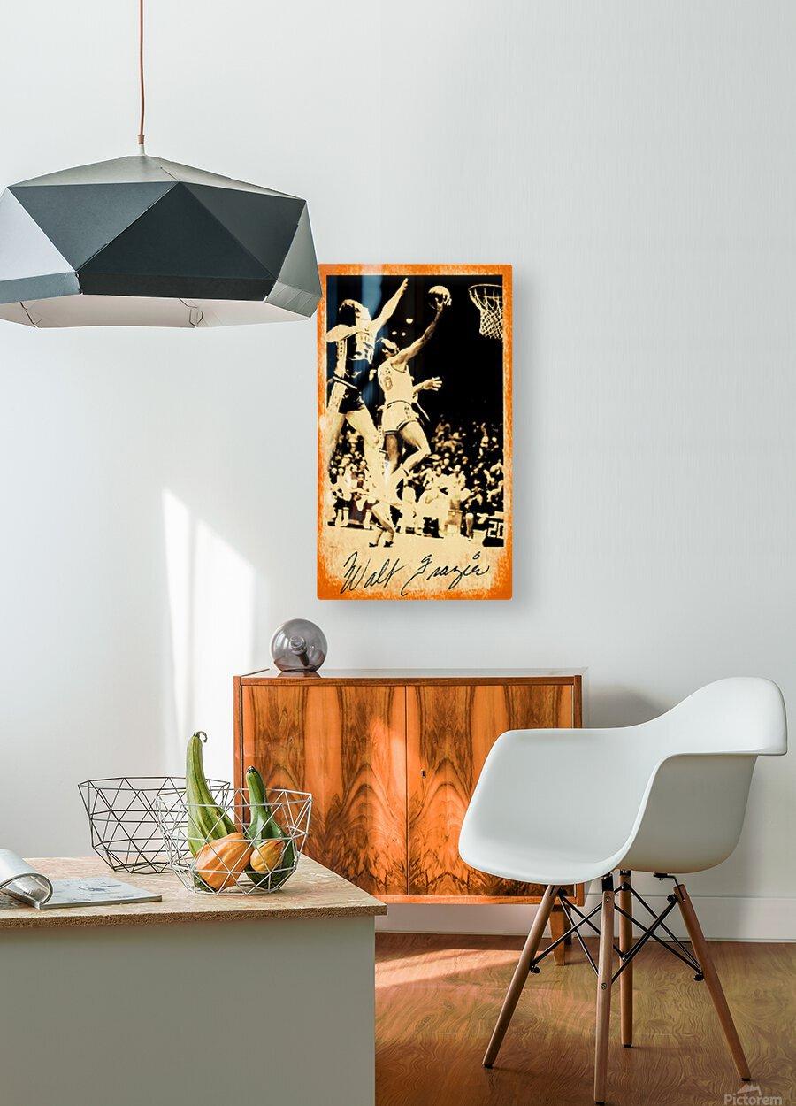 1976 New York Knicks Walt Frazier Art  HD Metal print with Floating Frame on Back