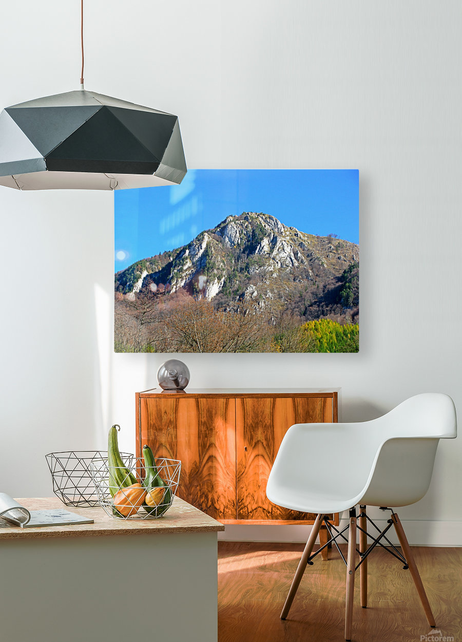 Mountain view in Dragoslavele, Romania  HD Metal print with Floating Frame on Back