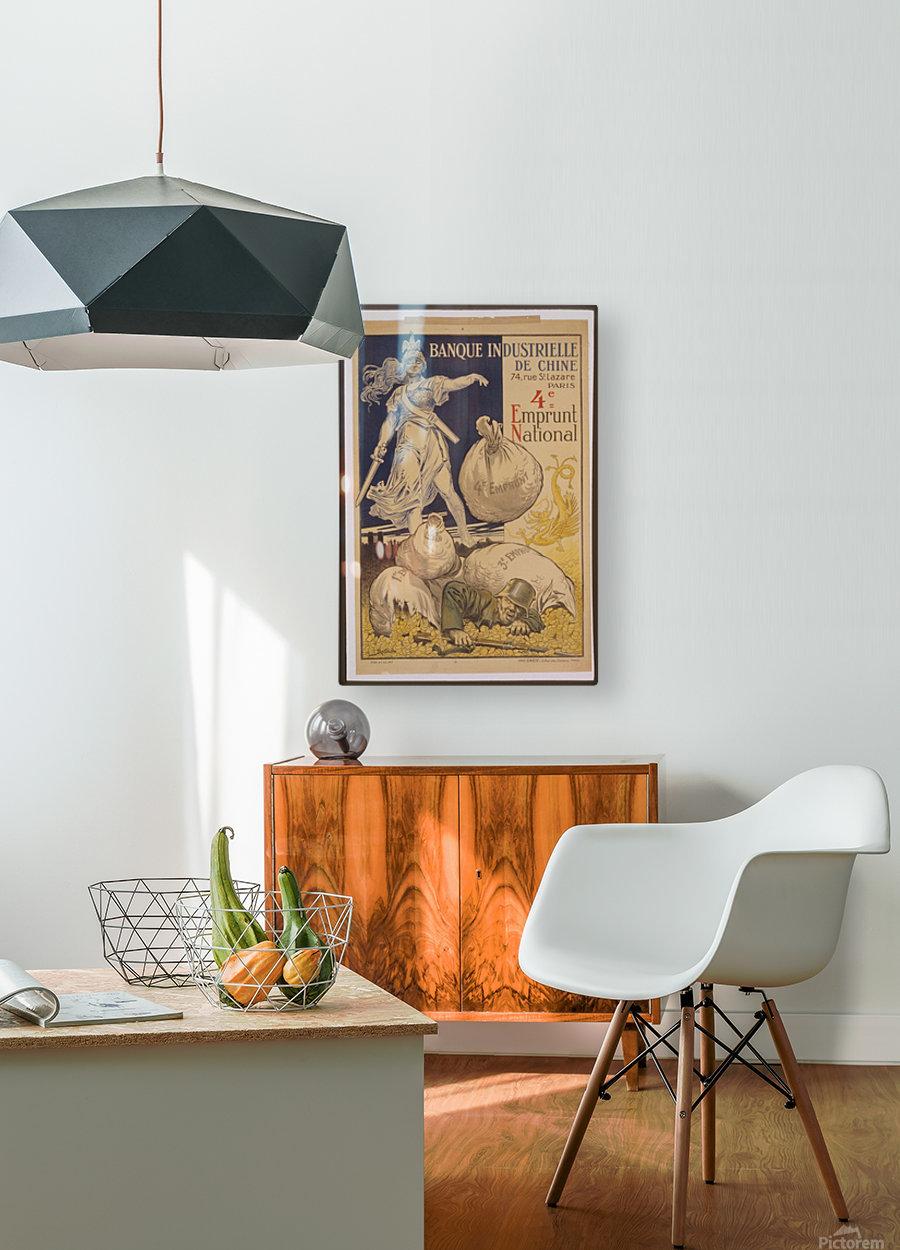 Vintage---German-Defeat  HD Metal print with Floating Frame on Back