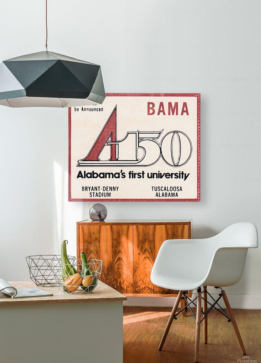 1981 Alabama Football Ticket Stub Art  HD Metal print with Floating Frame on Back