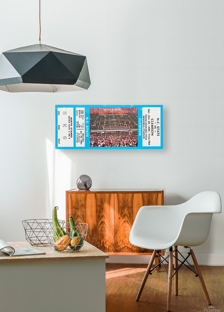 1985 Clemson Tigers vs. NC State Wolfpack  HD Metal print with Floating Frame on Back