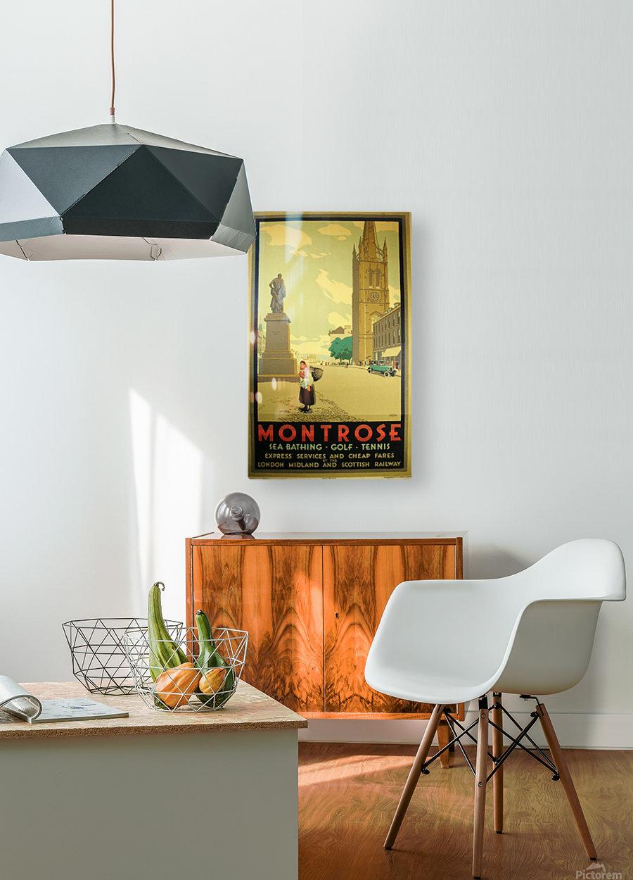 Montrose vintage travel poster  HD Metal print with Floating Frame on Back