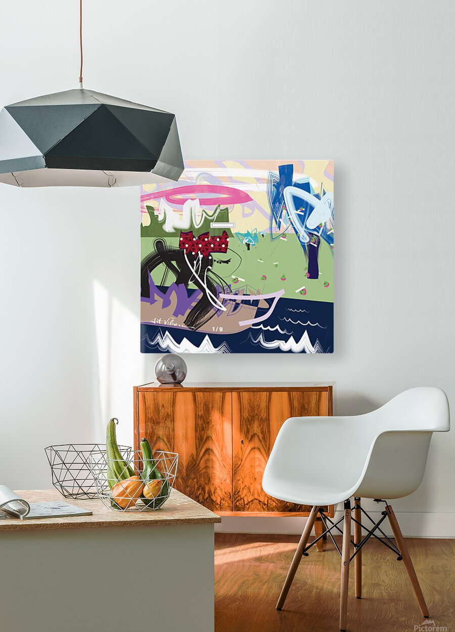 Da Cruze  HD Metal print with Floating Frame on Back