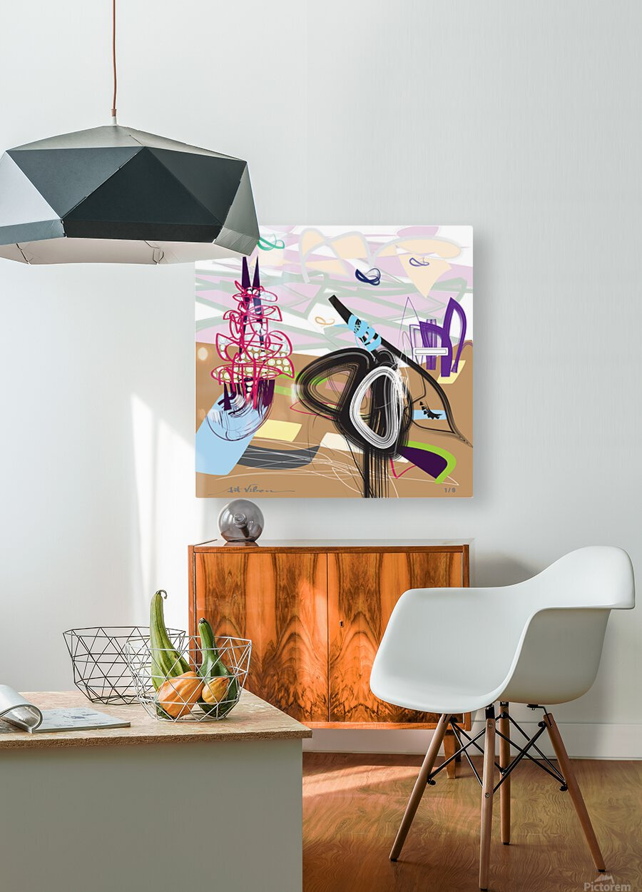 Purple Wispers  HD Metal print with Floating Frame on Back