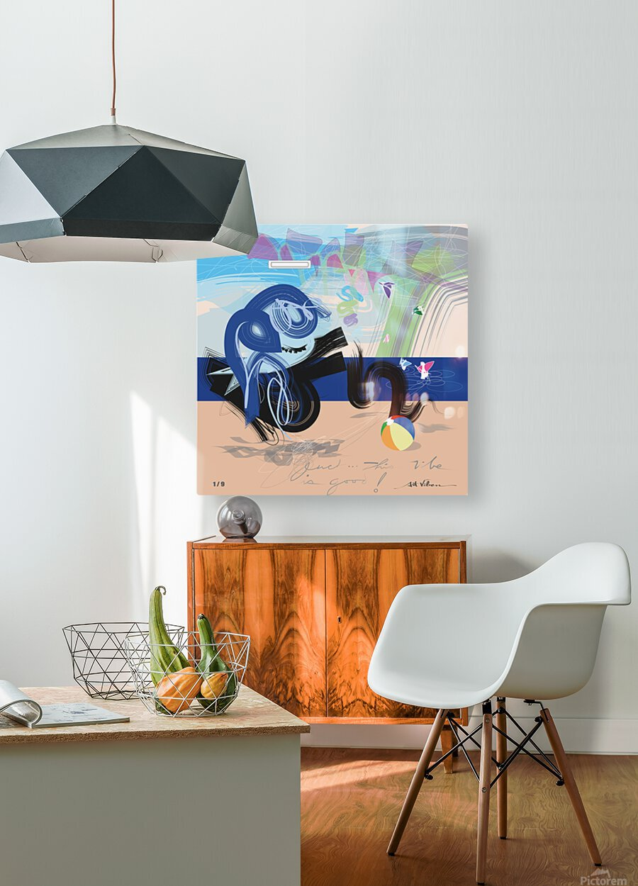 Vibe Travelers  HD Metal print with Floating Frame on Back