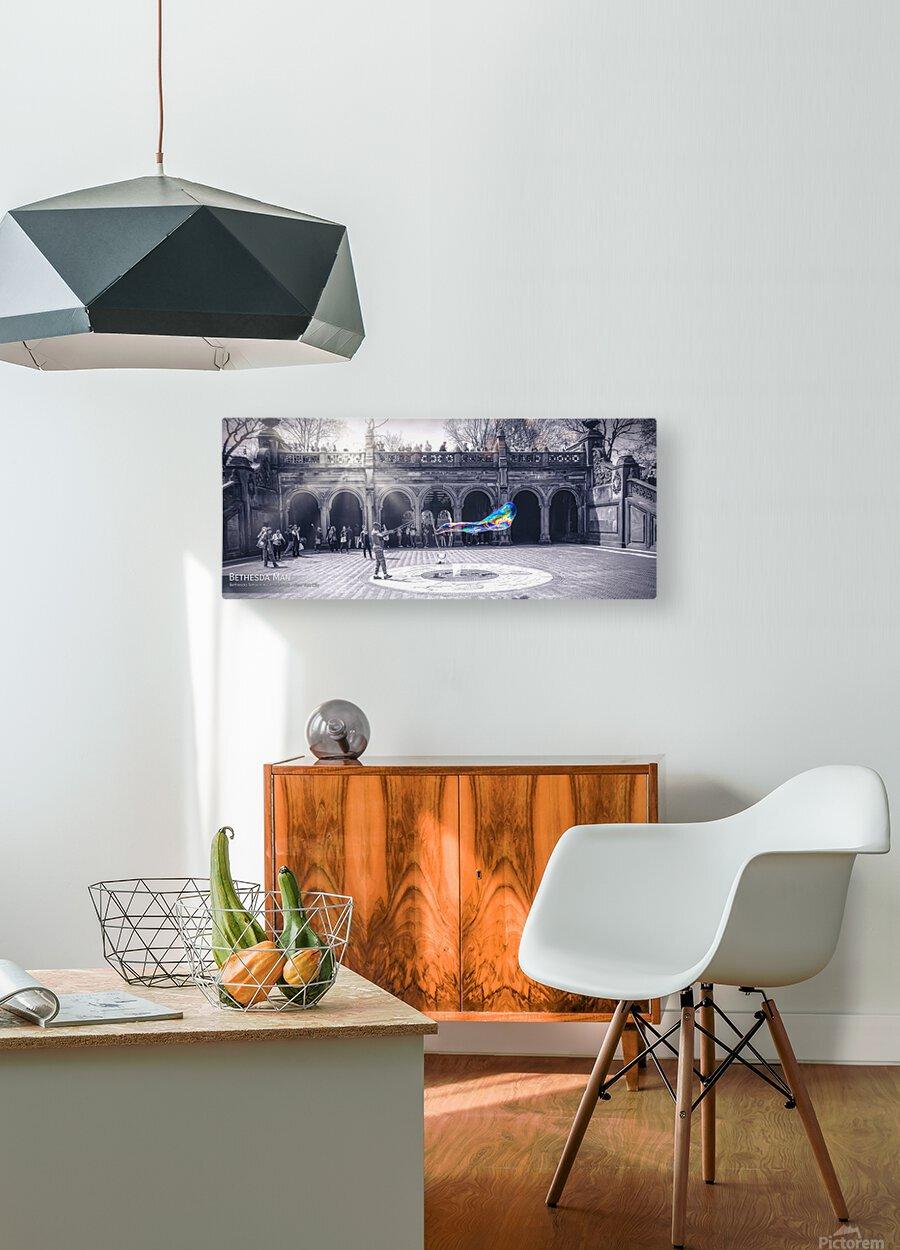 Bethesda Man2  HD Metal print with Floating Frame on Back
