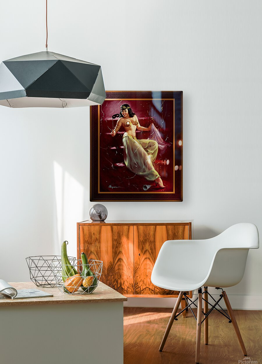 Did You Recognize Me by Gil Elvgren Vintage Pinup Illustration Xzendor7 Old Masters Reproductions  HD Metal print with Floating Frame on Back