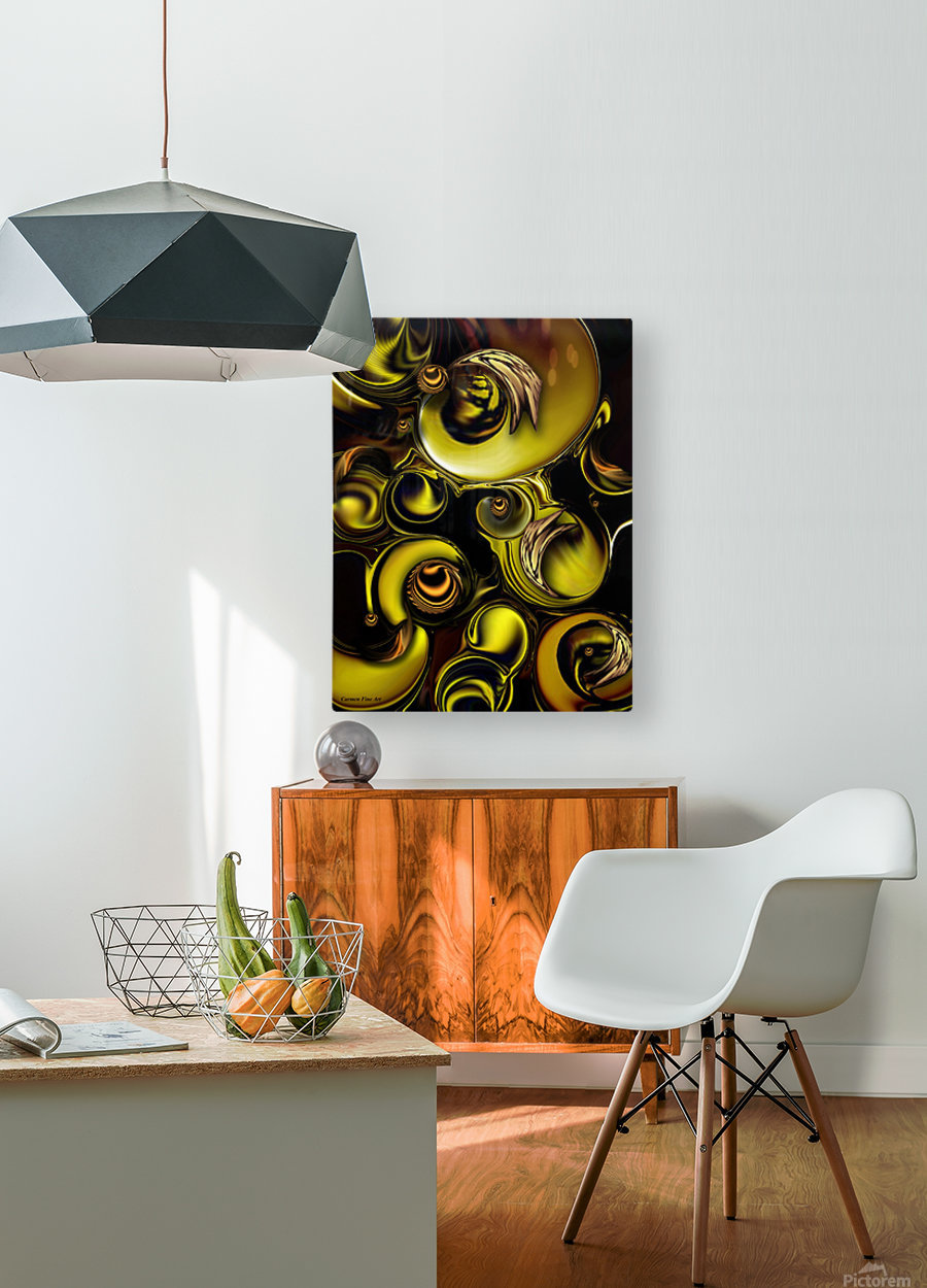 Mechanical Intensity  HD Metal print with Floating Frame on Back