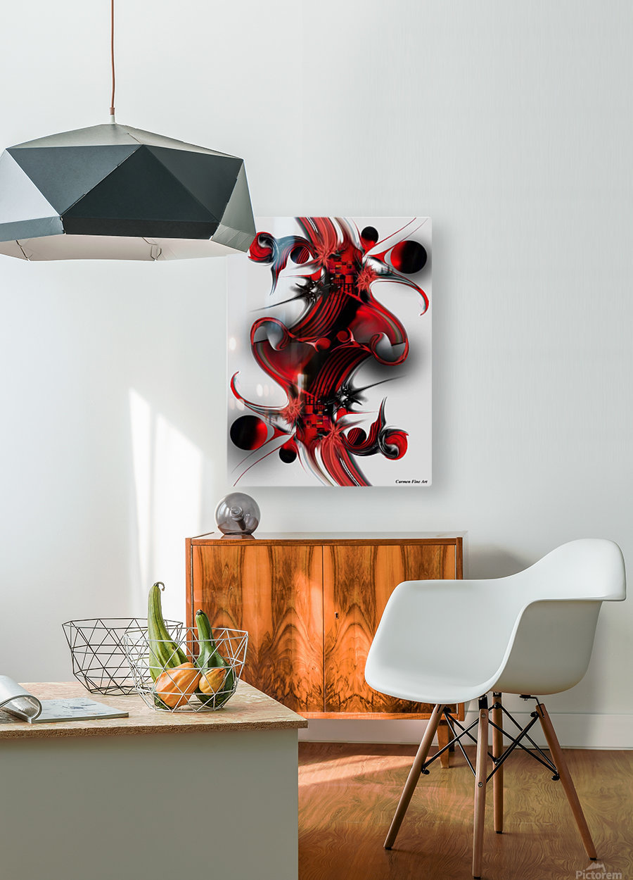 Unique Formation  HD Metal print with Floating Frame on Back