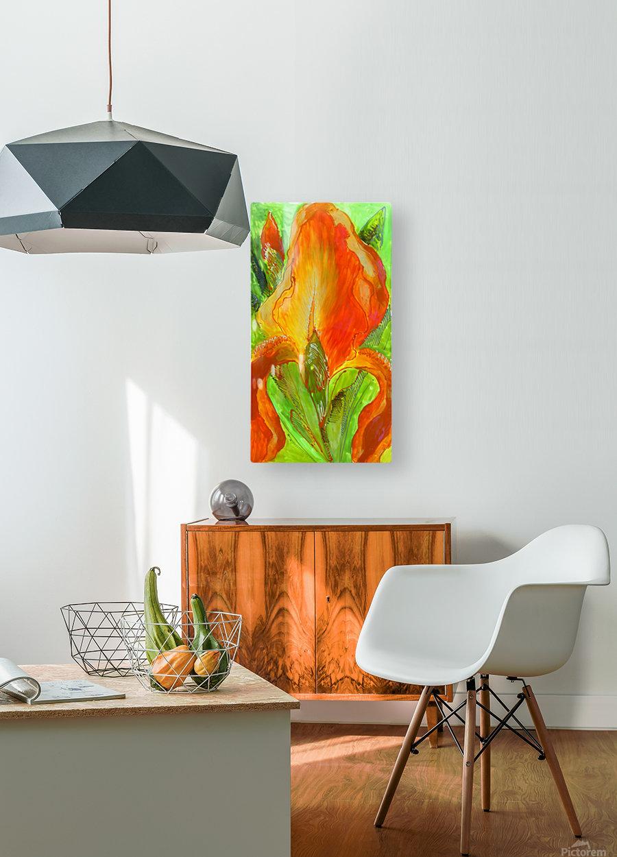 Polyptic with irises 4 by Vali Irina Ciobanu  HD Metal print with Floating Frame on Back