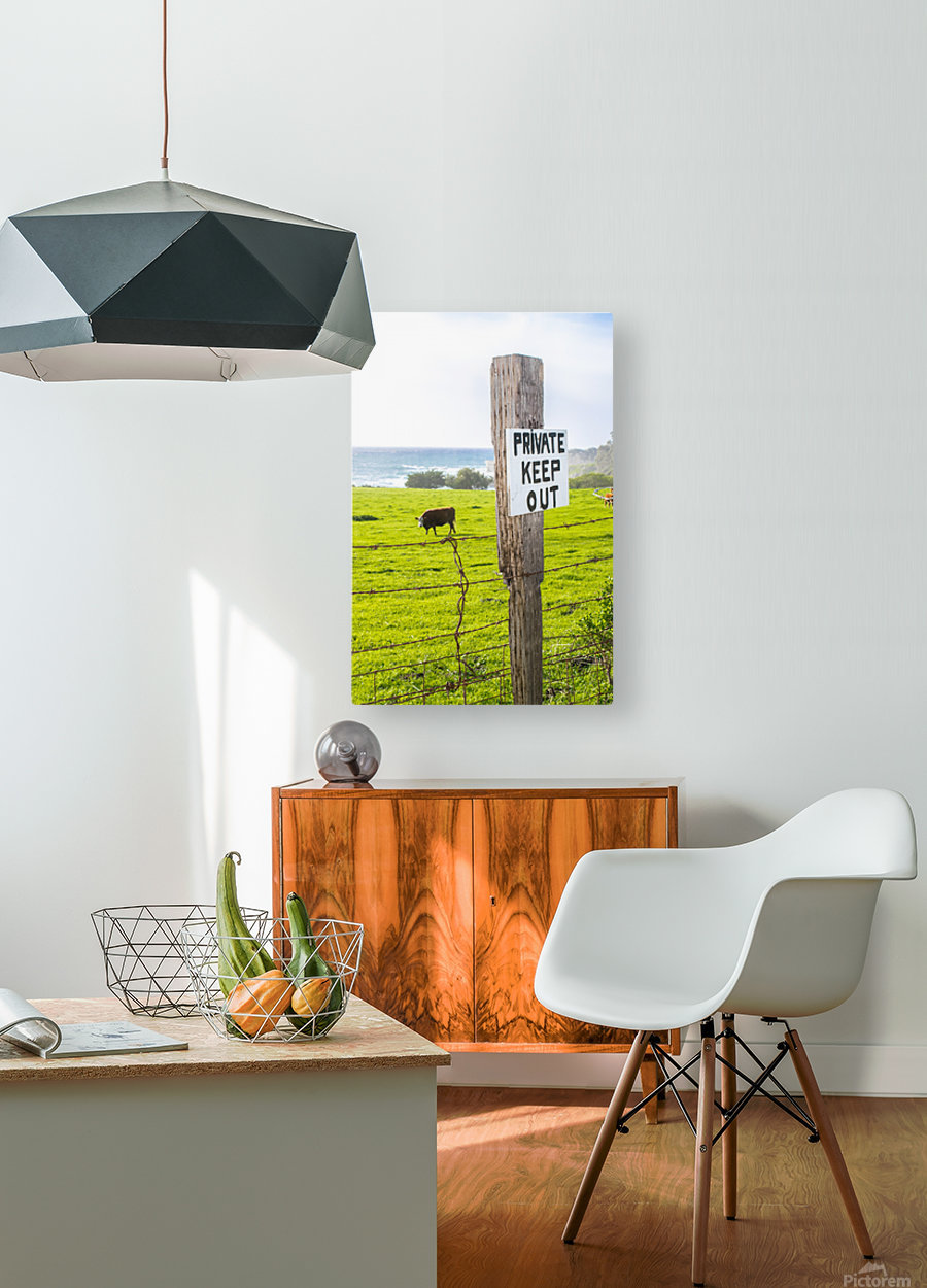 keepout  HD Metal print with Floating Frame on Back