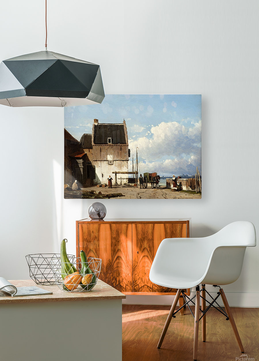 Luchtschappen  HD Metal print with Floating Frame on Back