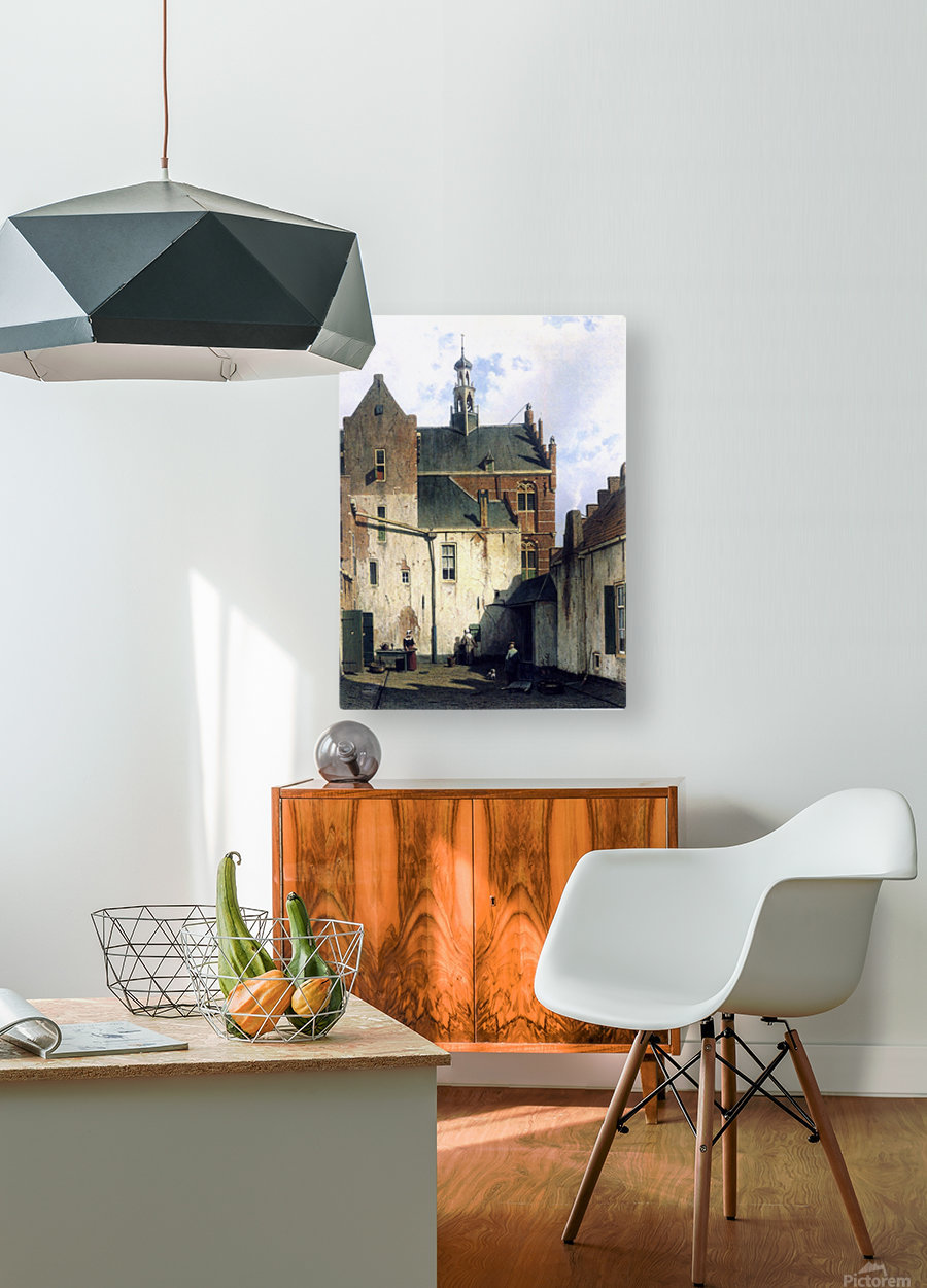 Culemborg, view at the westerly facade of the town hall at Wagenweg  HD Metal print with Floating Frame on Back
