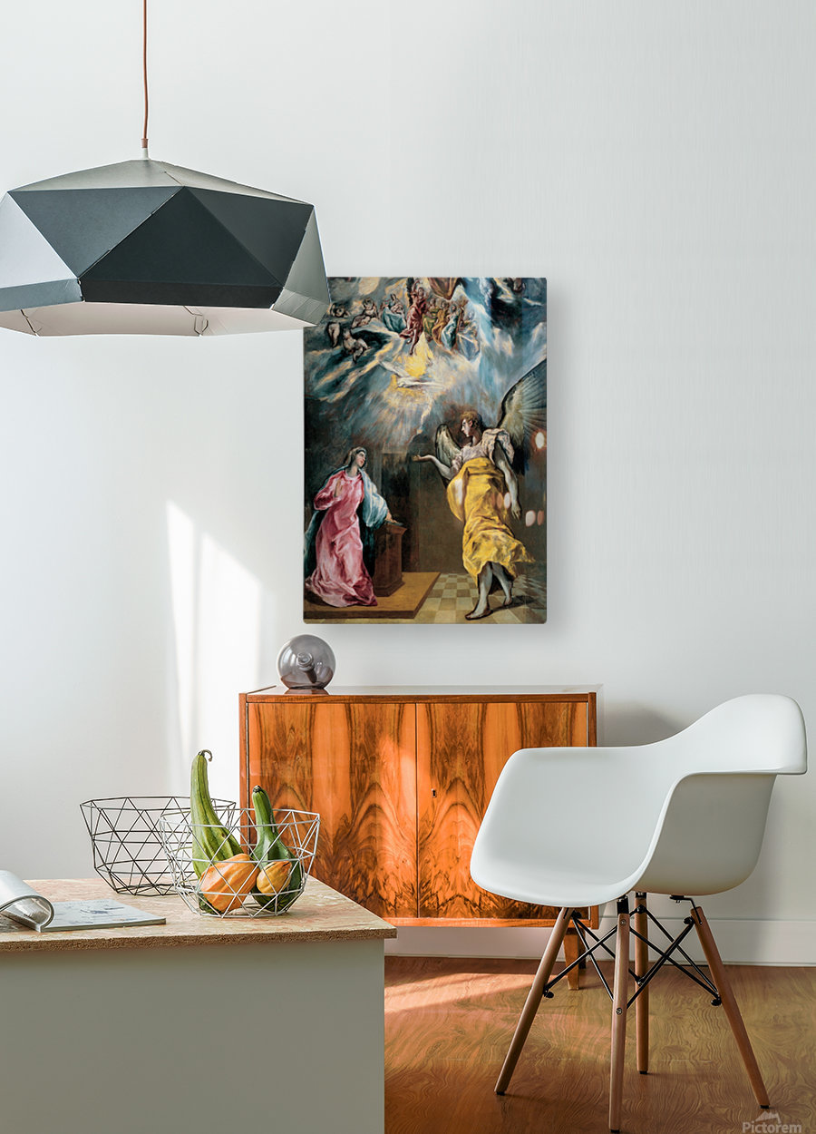 The Annunciation  HD Metal print with Floating Frame on Back