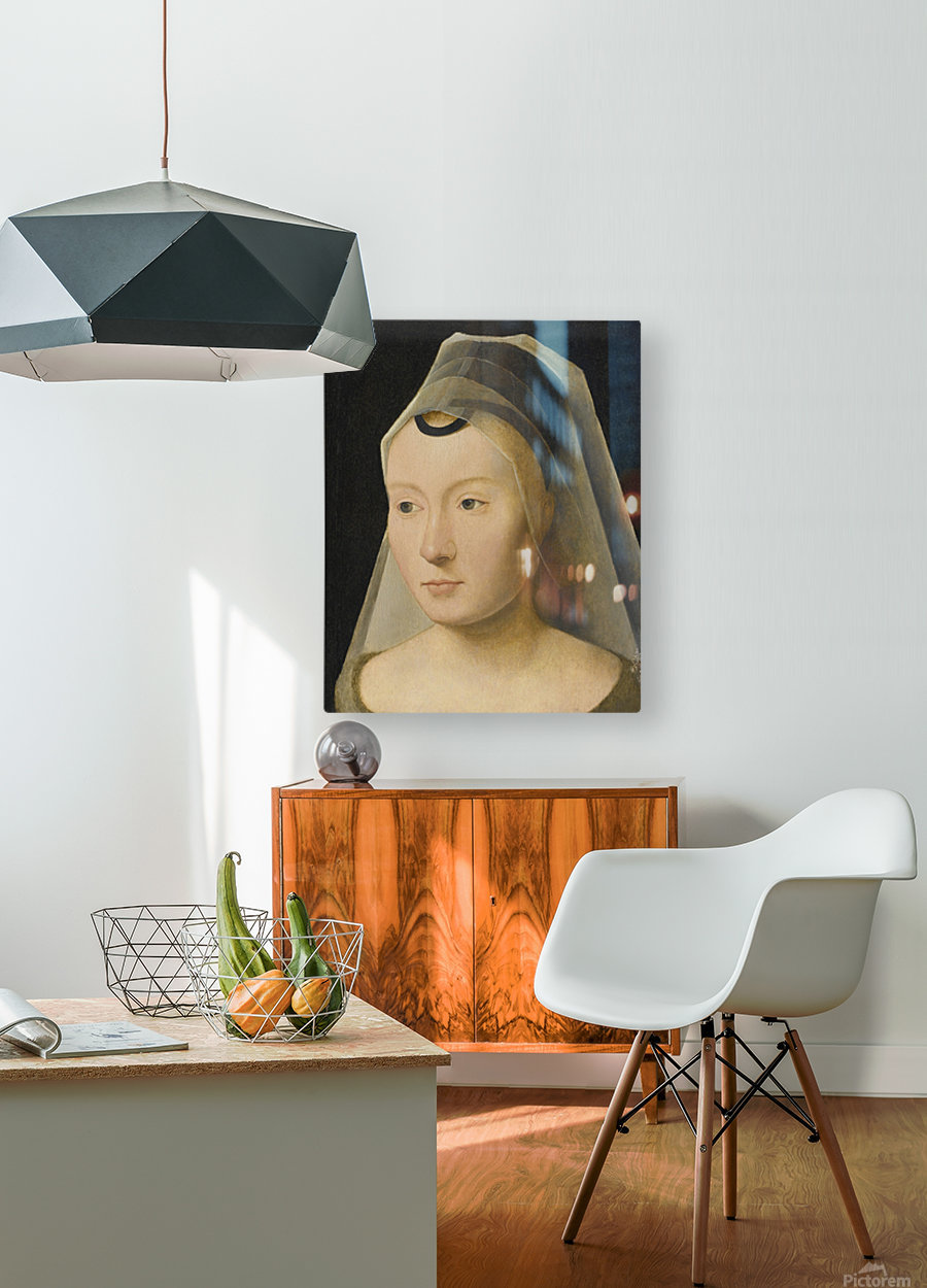 Portrait of a Young Woman  HD Metal print with Floating Frame on Back