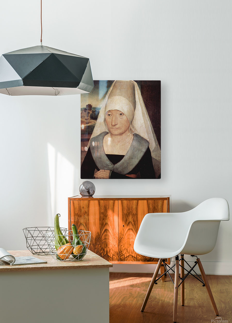Portrait of an old woman, 1472  HD Metal print with Floating Frame on Back